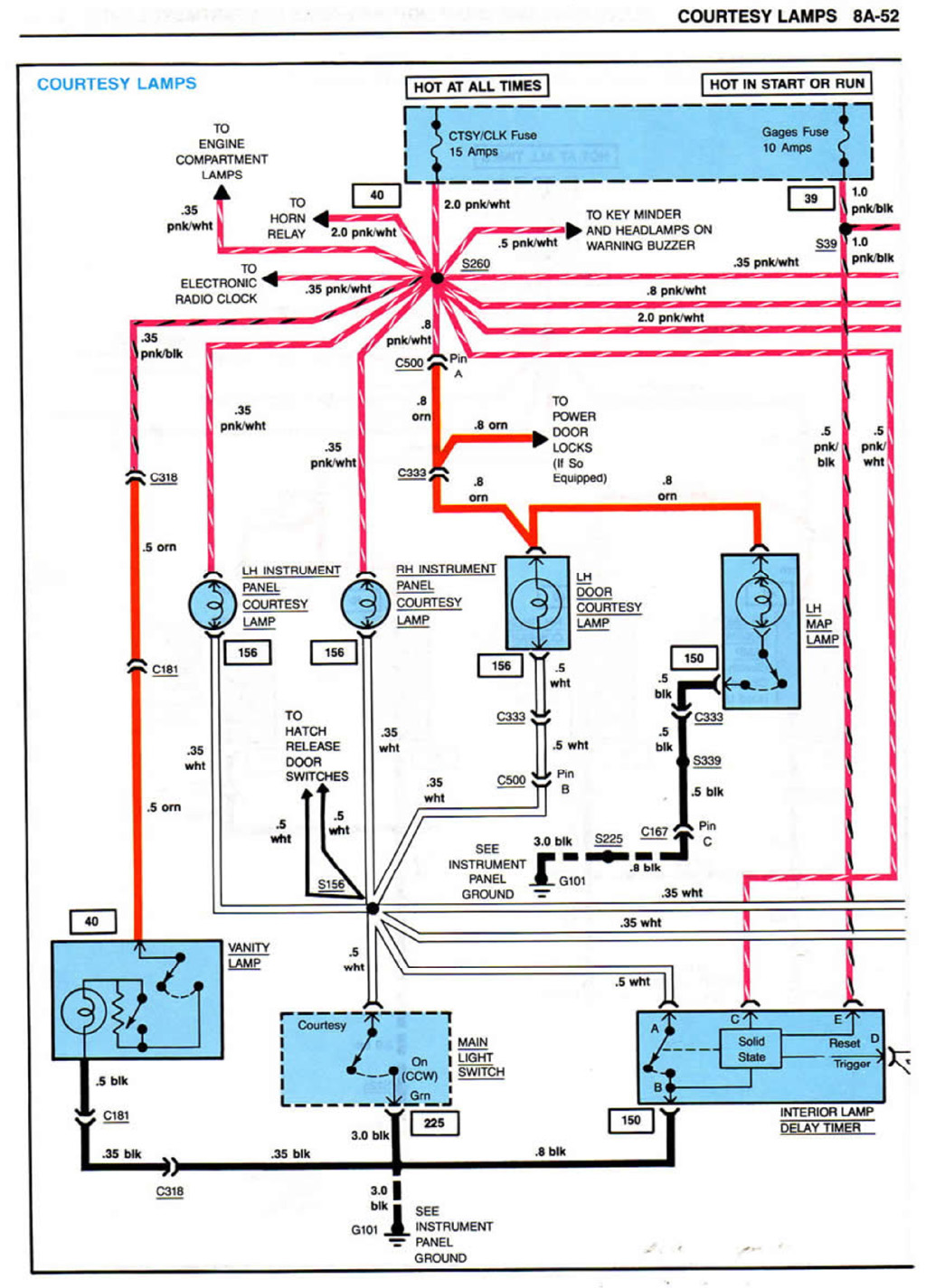 1984_Corvette_Courtesy_Lamps1 which light switch? corvette forum digitalcorvettes com 1984 corvette wiring diagram schematic at crackthecode.co