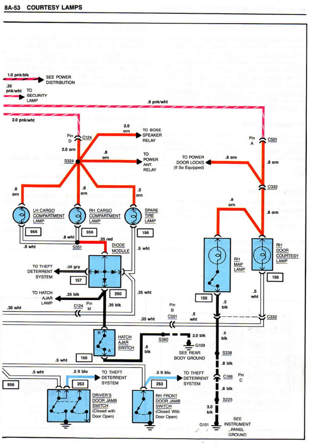 1984_Corvette_Courtesy_Lamps2 which light switch? corvette forum digitalcorvettes com c3 corvette wiring diagram at crackthecode.co