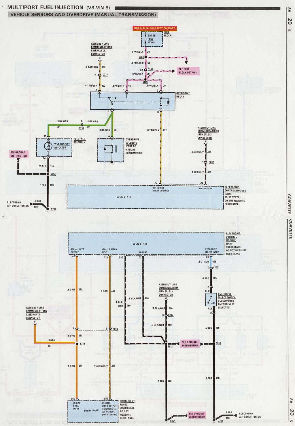 Niedlich 1989 Corvette Schaltplan Ideen - Die Besten Elektrischen ...