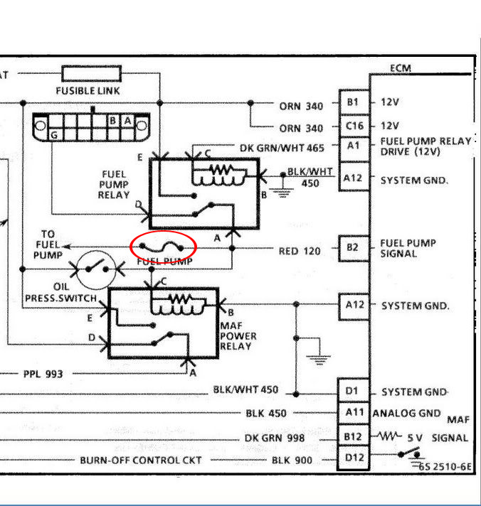 fuelpump 1 how to rewire install fuel pump relay mod readingrat net Fuel Pump Wiring Harness Diagram at bakdesigns.co